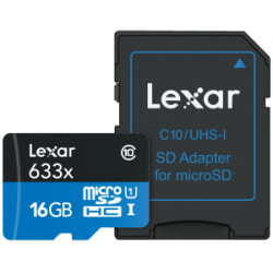 LEXAR 633X MICRO SDXC UHS-I HS MED ADAPTER